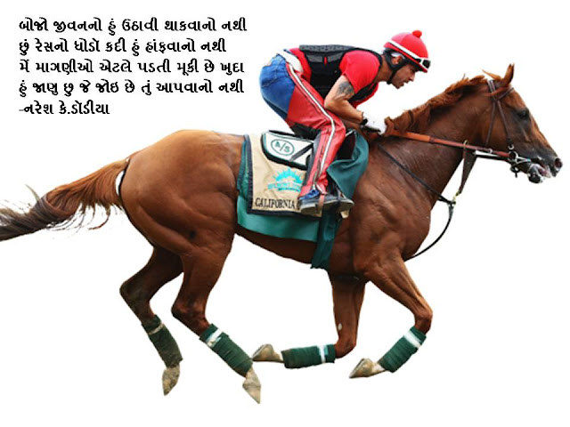 बोजो जीवननो हुं उठावी थाकवानो नथी Gujarati Muktak By Naresh K. Dodia