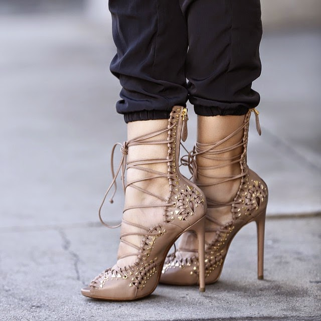 62fecaddf0e This Season s Sexiest Shoes - The Lace-Up Heels