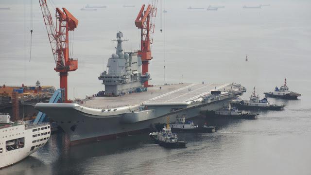 China realiza la segunda prueba a su primer portaviones de fabricación nacional