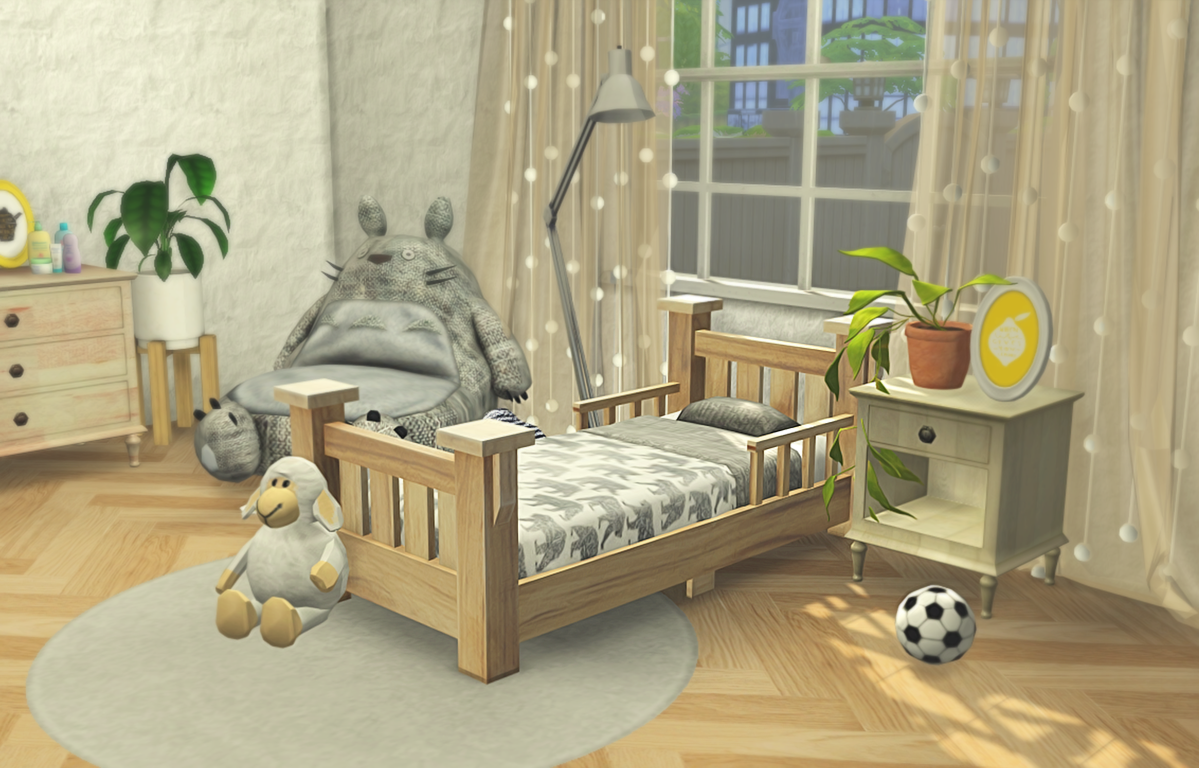 Classic Toddler Bed Frame And Mattress Recolors By MelonPixels