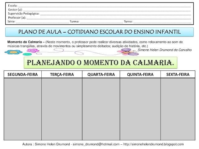 Como fazer um plano de aula para educacao infantil