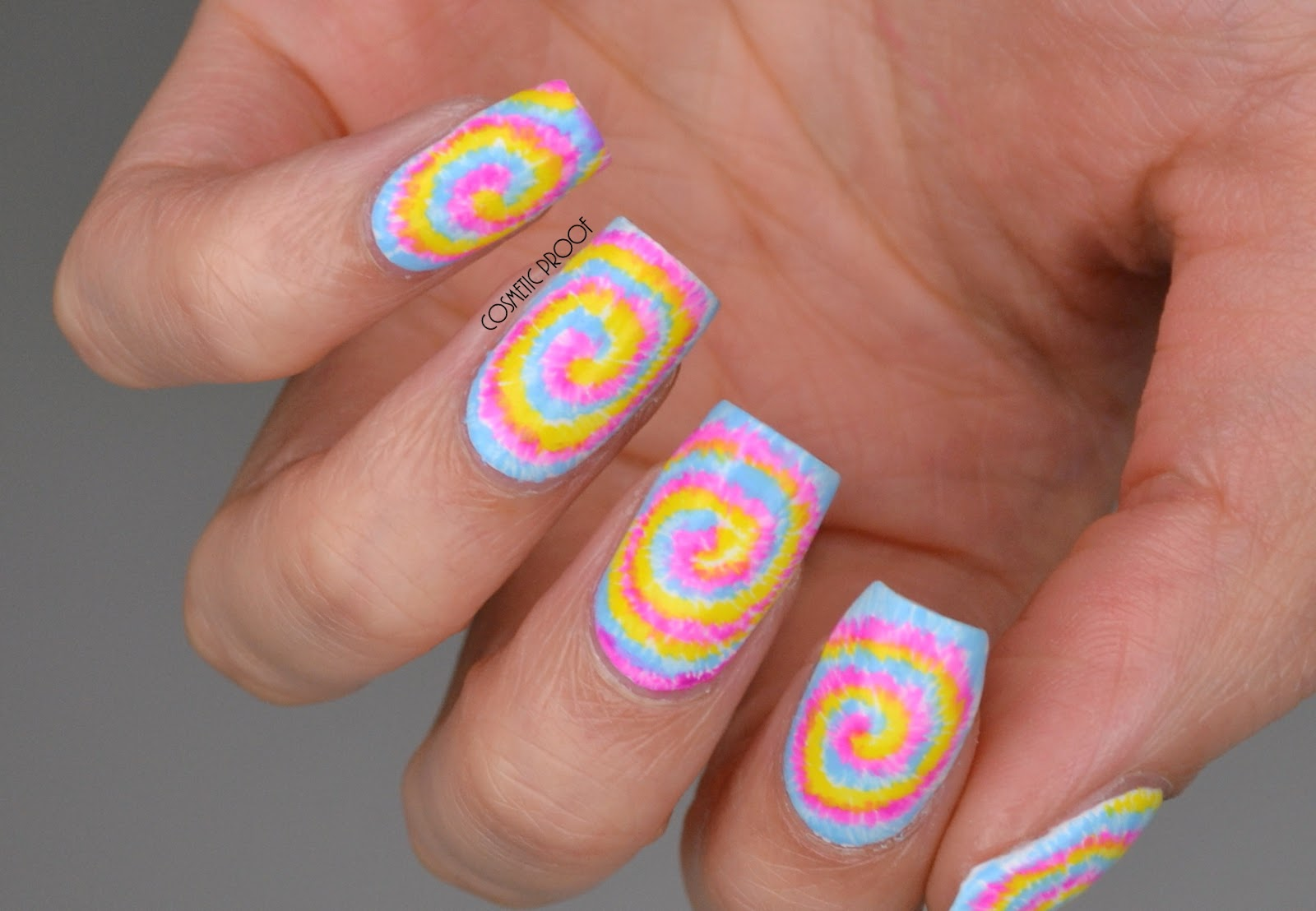 Nails Bcd Nail Art Challenge Week 1 Tie Dye Bcdnails Cosmetic