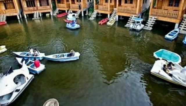 Wisata air danau dariza hotel dan resort
