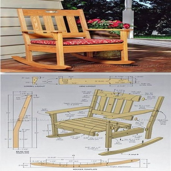 Ideas outdoor table and rocking chairs