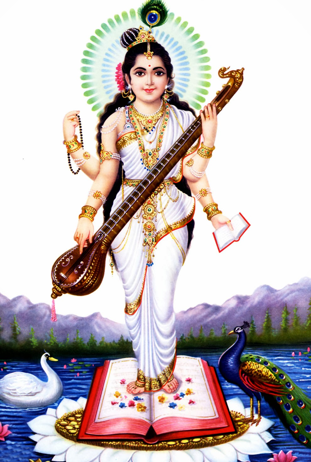Beautiful Wallpaper Lord Saraswati - Wallpaper%2Bof%2BSaraswati%2BMata%2B%25287%2529  Photograph_30516.jpg