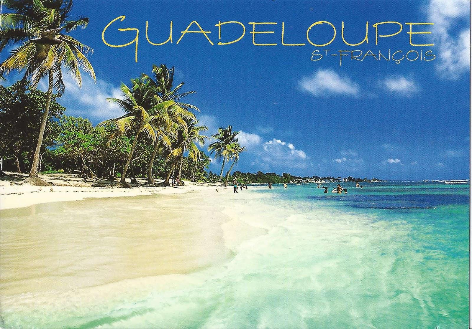 A Journey of Postcards Plage des Raisins Clairs Guadeloupe