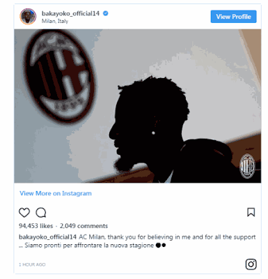 AC Milan Sign Tiemoue Bakayoko On Loan From Chelsea with Option to Buy
