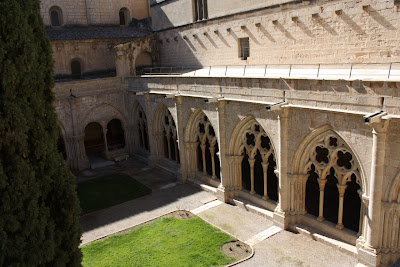 Gothic cloister of Poblet monastery