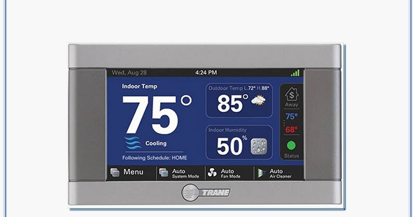 How Do I Reset Trane Touch Screen Xl824 Thermostat