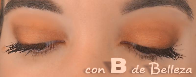 Maquillaje sombras anaranjadas y mostaza