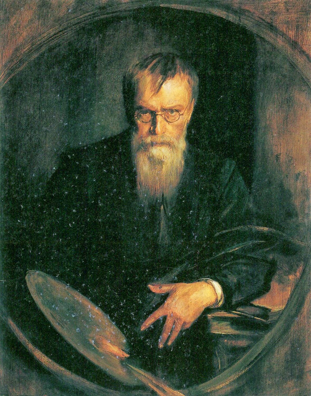 Franz von Lenbach, Self Portrait, Portraits of Painters, Fine arts, Painter Franz von Lenbach