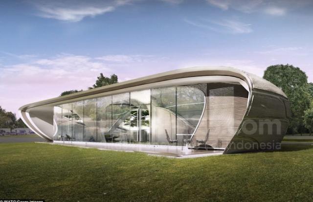 Penampakan Rumah Cetak 3D Pertama di Dunia
