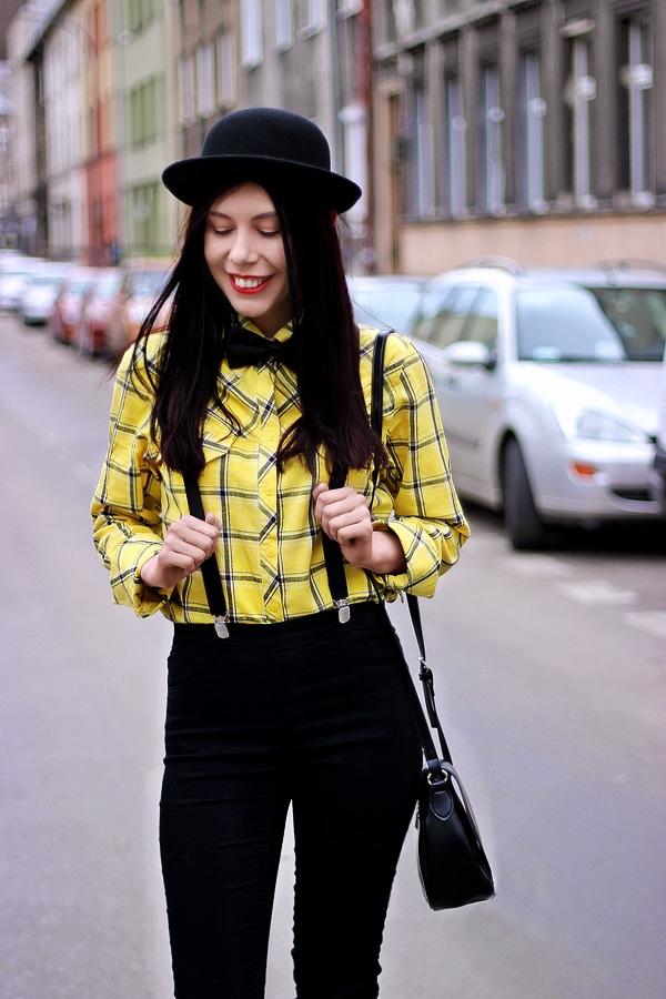 melonik mucha szelki stylizacja damska Kraków melonik moda z Krakowa męski styl w modzie Podgórze zdjęcia