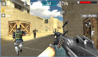 Gun Shot Fire War Mod Apk v1.1.1 High Gold Gain in Any Mode Update