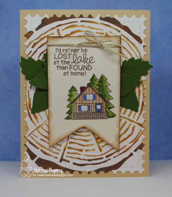 I'd rather be lost at the lake by Debbie features Tree Rings, Flower Trio, and Winston's Lake House by Newton's Nook Designs; #newtonsnook