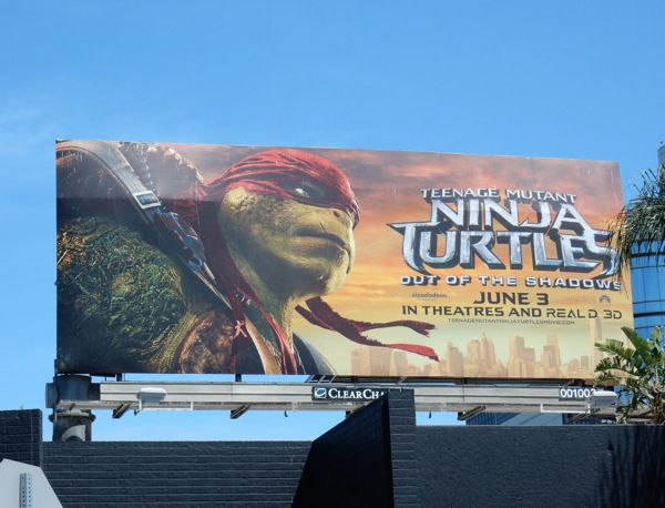 Teenage Mutant Ninja Turtles Shadows Raphael billboard