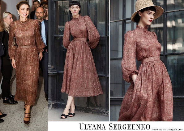 Queen Rania wore Ulyana Sergeenko dress from Fall-Winter 2017-2018 Demi-Couture collection