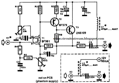 Low-Noise Active Antenna Circuit Diagram