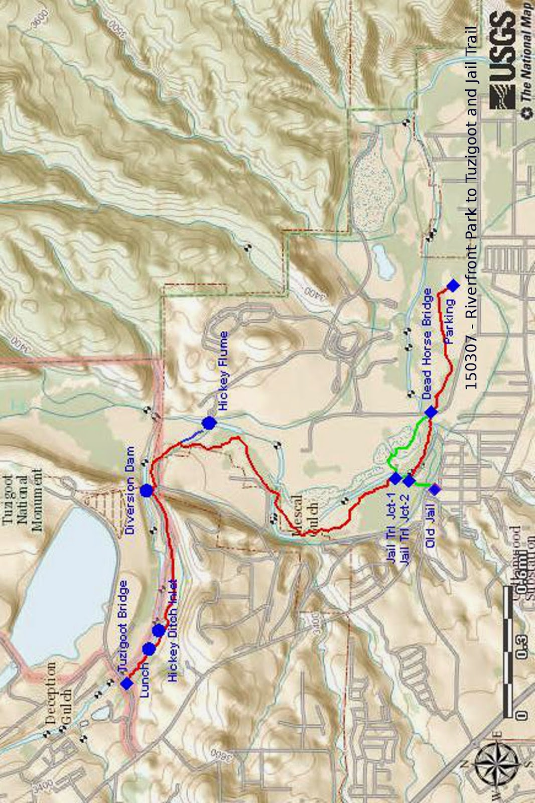 while working on the map i identified the hickey ditch inlet it is located as shown on the map just downstream from where we ate lunch