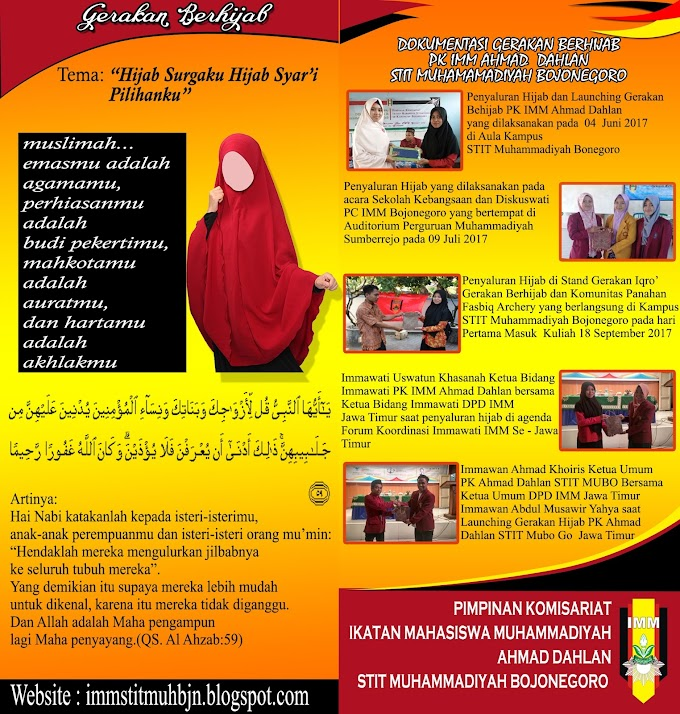 Brousur Gerakan Berhijab PK IMM Ahmad Dahlan