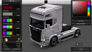Black White Skin for Scania RJL