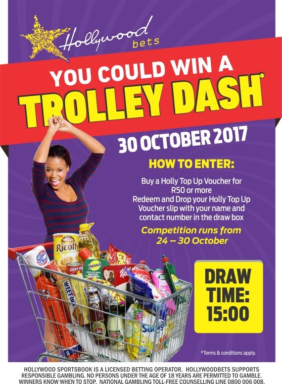 Win a Trolley Dash at Spar - Hollywoodbets - 24 - 30 October 2017