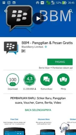 BBM1 cara daftar bbm via android