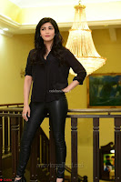 Shruti Haasan Looks Stunning trendy cool in Black relaxed Shirt and Tight Leather Pants ~ .com Exclusive Pics 065.jpg
