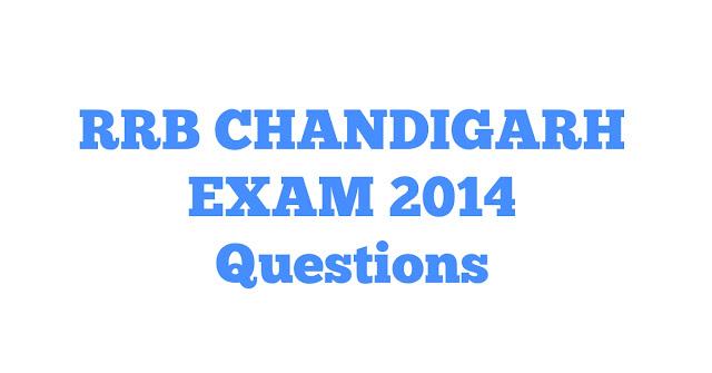 Quiz No. - 137 | RRB CHANDIGARH Exam 2014 में पूछे गए प्रश्न।