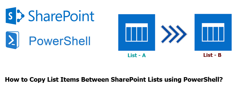 Copy List Items Between SharePoint Lists using PowerShell