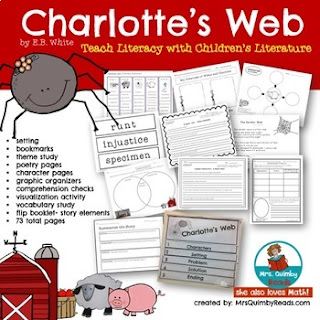 children's literature, charlotte's web, ebwhite, write about reading