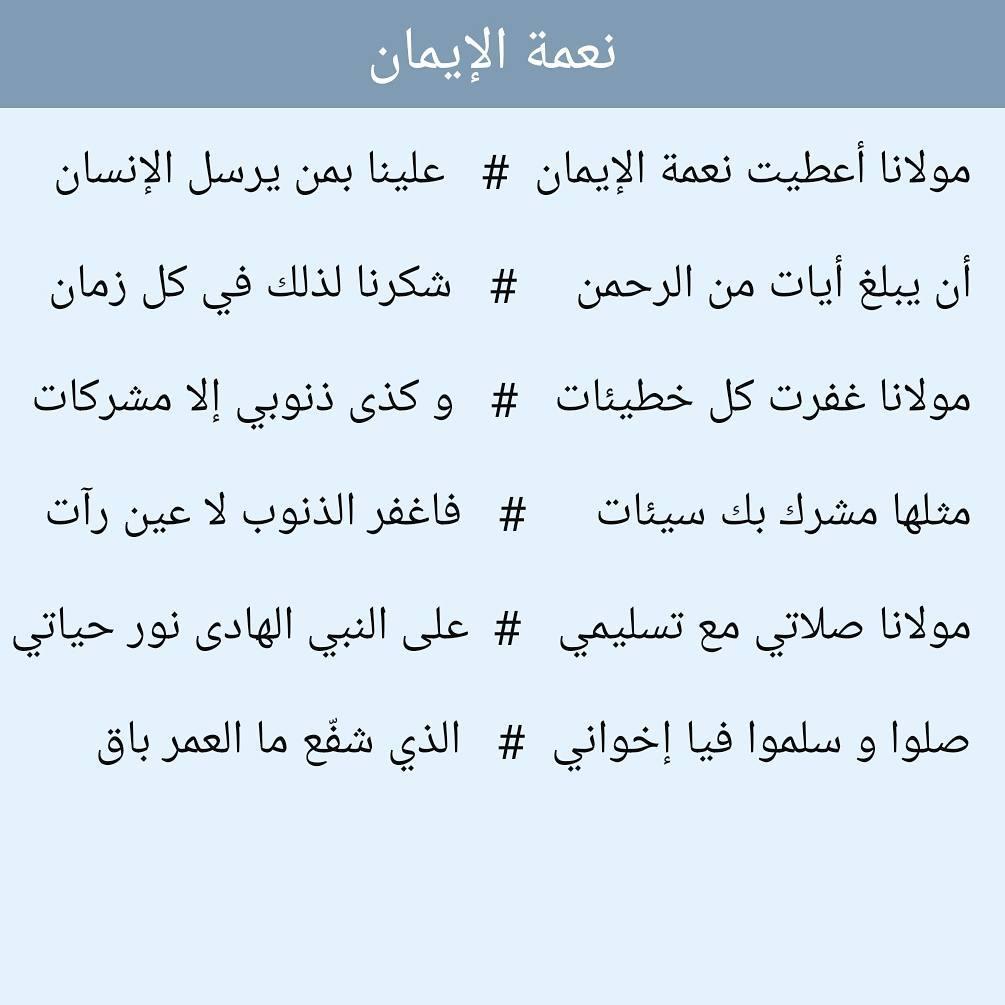 Teks Sholawat Ni'matal Iman (Maulana A'thoita)