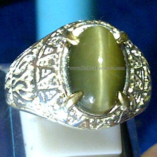 Cincin Batu Permata Cat Eye Quartz - ZP 1039