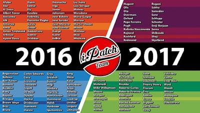 PES 2016 Callname Pack dari PES 2017