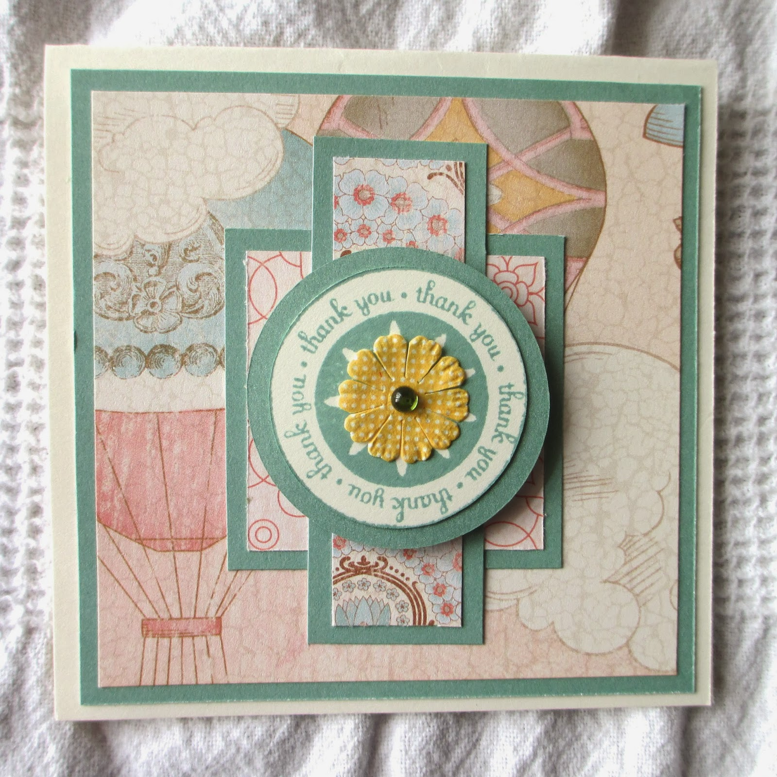 Close To My Heart Balloon Ride, Close To My Heart Thank You Card