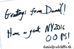 OOPS! magazine (Russia): Daniel's Happy New Year message
