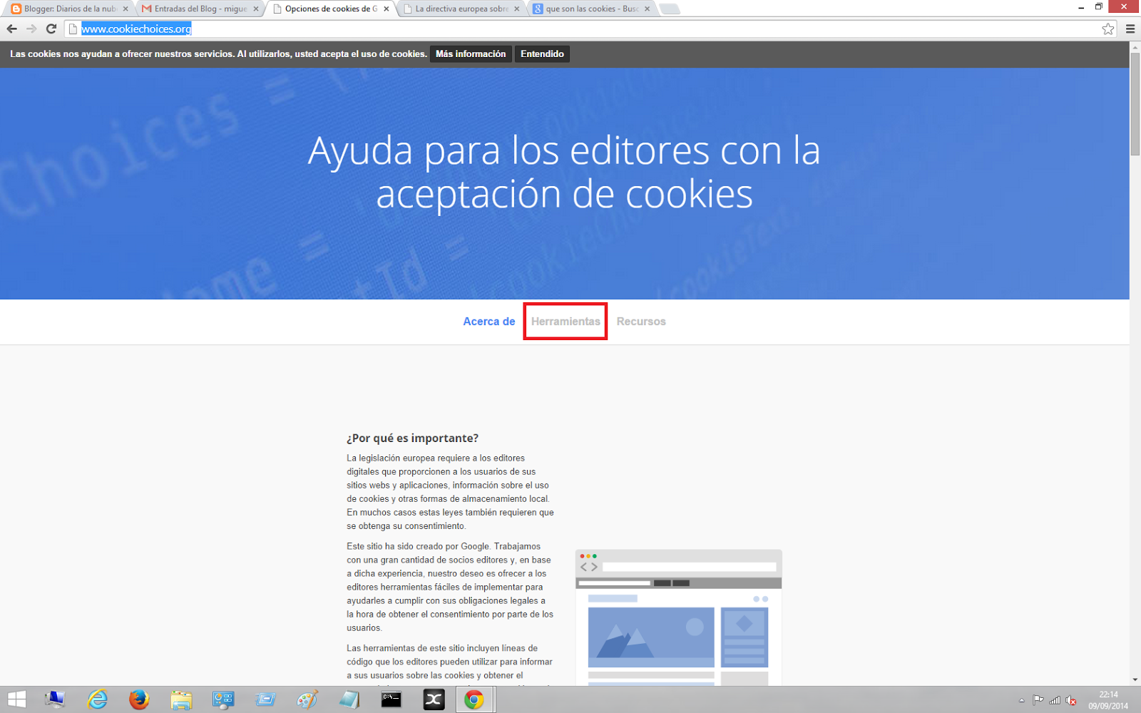 El servicio de Google para realizar el aviso de uso de cookies en tu ...