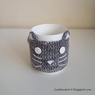 sweterek na kubek kot