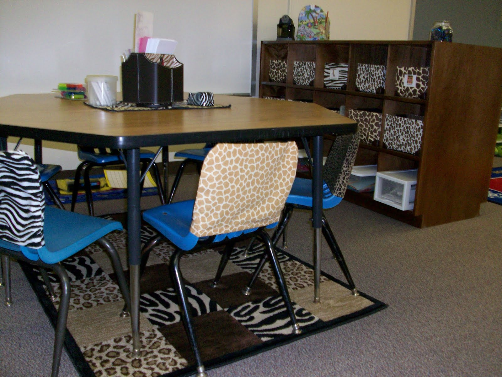 Giraffe Print Chair Sashes Swing For Your Room It 39s A Jungle Out There Kindergarten Blog Theme