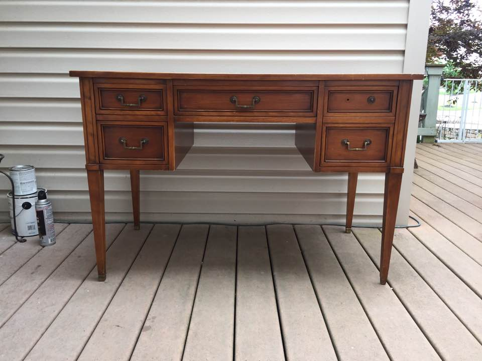 Vintage writing desk before.