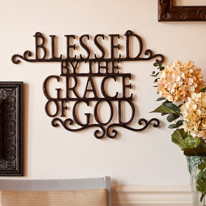 christian decor wall grace god blessed blessings unlimited quotes plaques christmas giveaway metal decorations amazing walls religious room blessing themodestmomblog