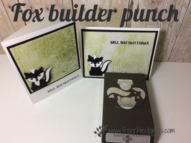 Fox Builder Punch, skunk Stampin'Up! Emboss Wax resist