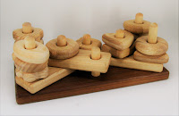 Lotes wooden toys, Wooden Stack and build block (PY33)