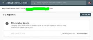 Permintaan pengindexan di google webmaster baru