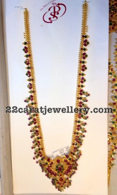 Rubies Muvvala Haram Jewellery Designs