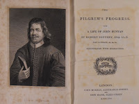 "The title page and frontispiece for a copy of ""The Pilgrim's Progress."""