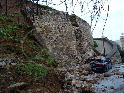Κατάρρευση ενετικού επιπρομαχώνα στα Χανιά