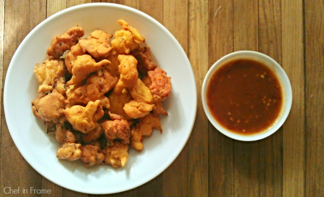 Desi Pakoras filled with Cabbage - Recipe | Chef in frame