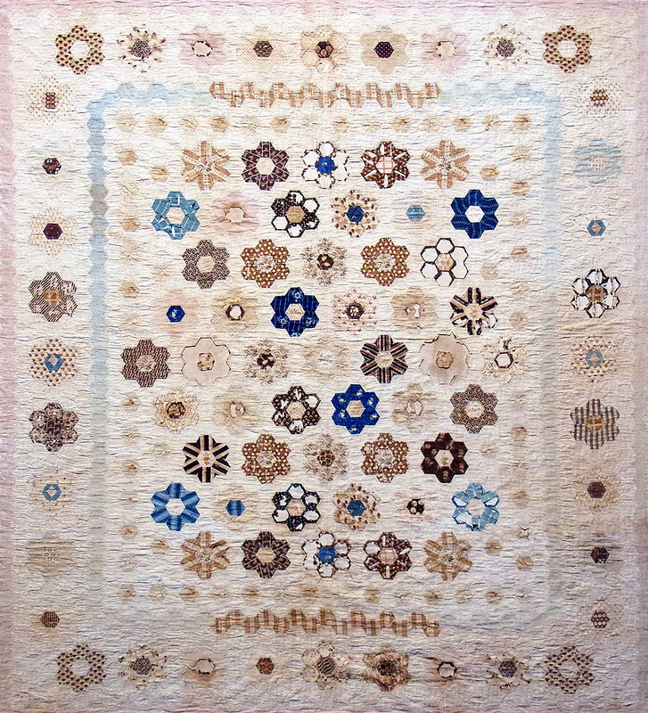 Hexagon Quilt by Sarah Wall (nee Litherland) | Making the Australian Quilt 1800-1950 | © Red Pepper Quilts 2016