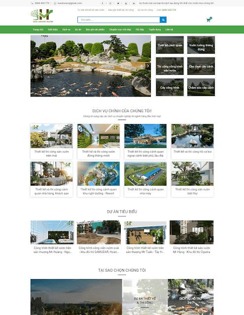 Template blogspot dịch vụ thiết kế sân vườn